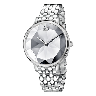 Crystal Lake Watch, Metal bracelet, White, Stainless steel