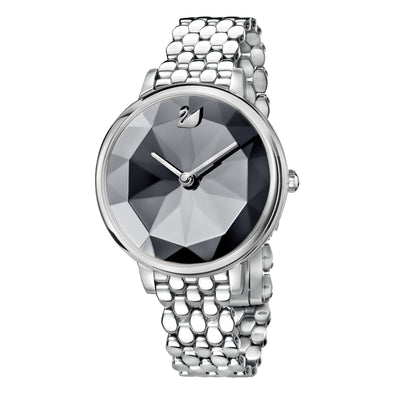 Crystal Lake Watch, Metal bracelet, Dark Gray, Stainless steel
