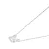 Swarovski Iconic Swan Necklace, White, Rhodium plated