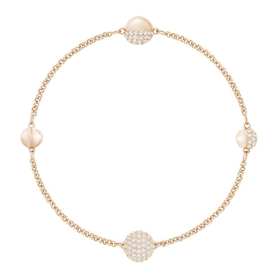 Swarovski Remix Collection Round Strand, White, Rose-gold tone plated