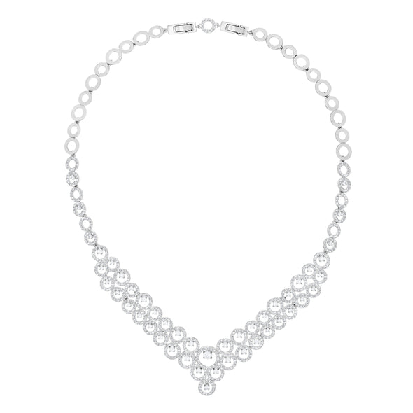 Creativity Necklace, White, Rhodium plated