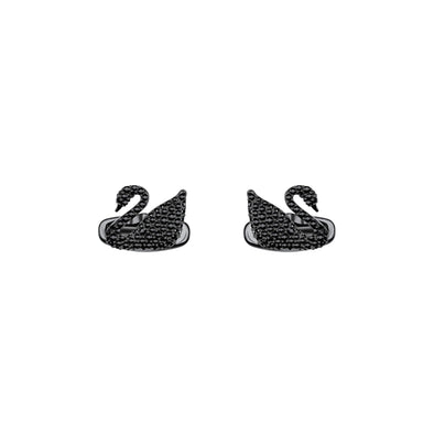 Swan Cuff Links, Black, Black PVD