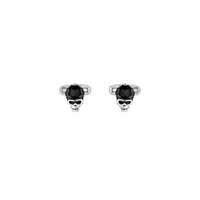 Taddeo Cuff Links, Black, Palladium plated