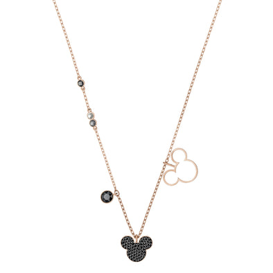 Mickey & Minnie Pendant, Multi-colored, Rose-gold tone plated