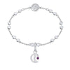 Swarovski Remix Collection Moon Charm, White, Rhodium plated