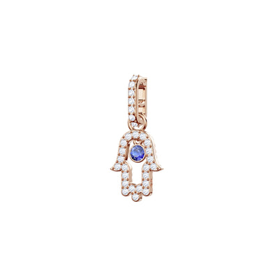 Swarovski Remix Collection Hamsa Hand Charm, Multi-colored, Rose-gold tone plated