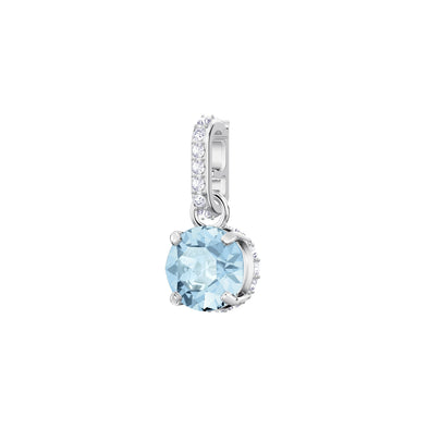 Swarovski Remix Collection Charm, March, Aqua, Rhodium plated