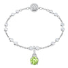 Swarovski Remix Collection Charm, August, Light Green, Rhodium plated