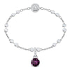 Swarovski Remix Collection Charm, February, Purple, Rhodium plated