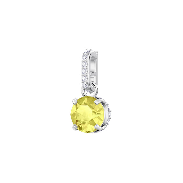 Swarovski Remix Collection Charm, November, Yellow, Rhodium plated