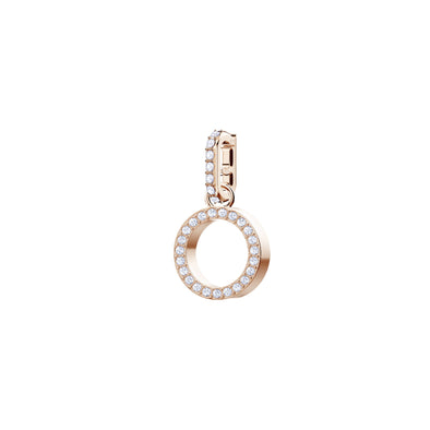 Swarovski Remix Collection Charm O, White, Rose-gold tone plated