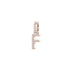 Swarovski Remix Collection Charm F, White, Rose-gold tone plated