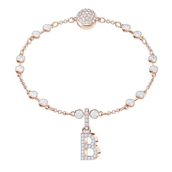 Swarovski Remix Collection Charm B, White, Rose-gold tone plated