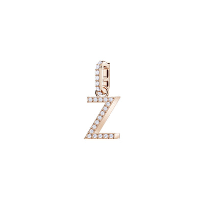 Swarovski Remix Collection Charm Z, White, Rose-gold tone plated