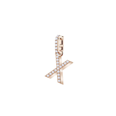 Swarovski Remix Collection Charm X, White, Rose-gold tone plated