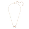 Lifelong Bow Pendant, White, Mixed metal finish