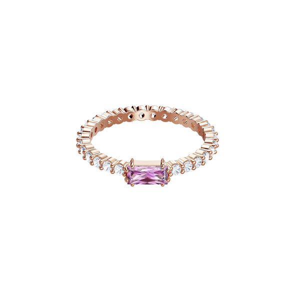 Vittore Ring, Multi-colored, Rose-gold tone plated
