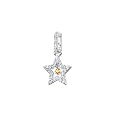 Swarovski Remix Collection Star Charm, White, Rhodium plated
