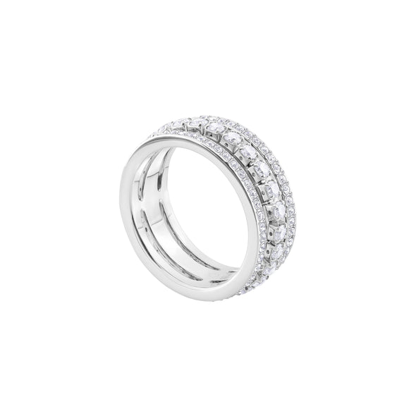 Further Ring, White, Rhodium plated