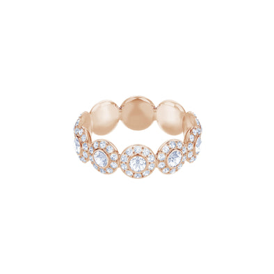 Angelic Ring, White, Rose-gold tone plated