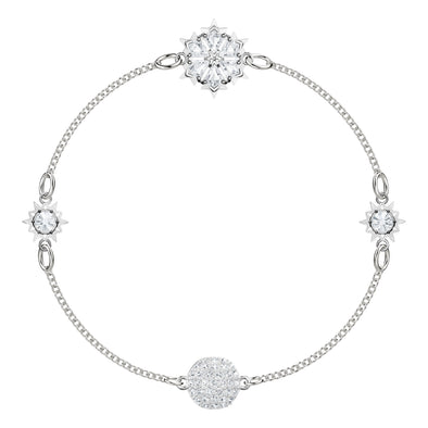 Swarovski Remix Collection Snowflake Strand, White, Rhodium plated