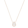 Swarovski Sparkling Dance Pear Necklace, White, Rose-gold tone plated