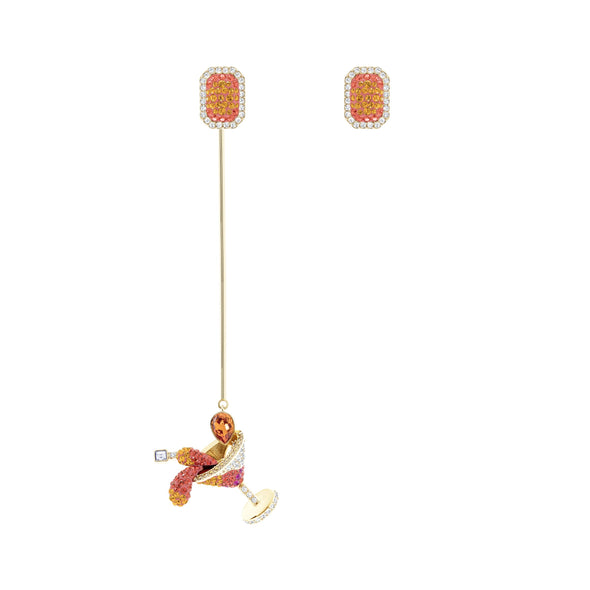 No Regrets Cocktail Pierced Earrings, Multi-colored, Gold-tone plated