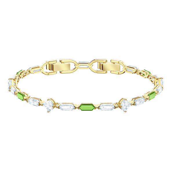 Oz Bracelet, White, Gold-tone plated