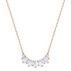 Sunshine Necklace, White, Rose-gold tone plated