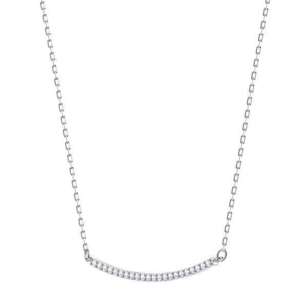 Only Necklace, White, Rhodium plated