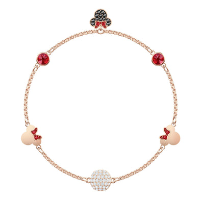 Swarovski Remix Collection Minnie Strand, Multi-colored, Rose-gold tone plated