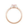 One Ring, Multi-colored, Rose-gold tone plated