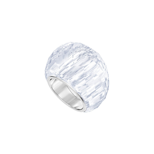 Swarovski Nirvana Ring, White, Stainless Steel