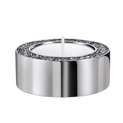 Minera Tea Light Holder, Small, Silver tone