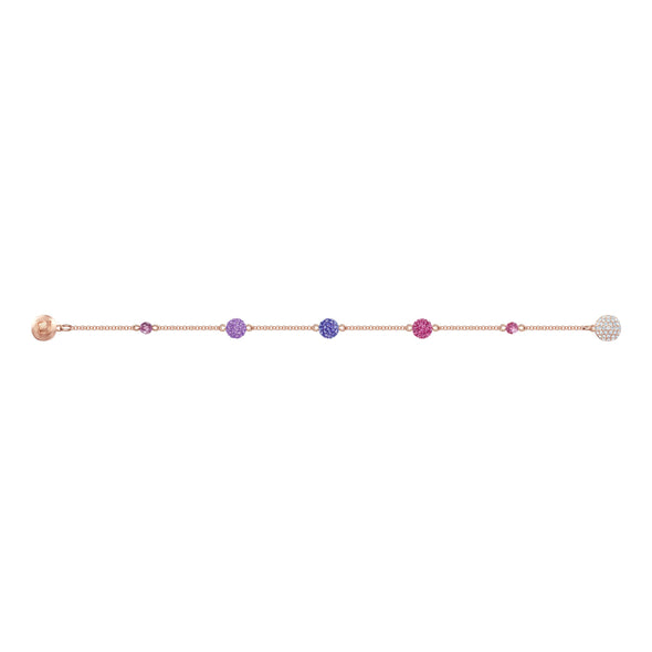Swarovski Remix Collection Pop Strand, Purple, Rose-gold tone plated