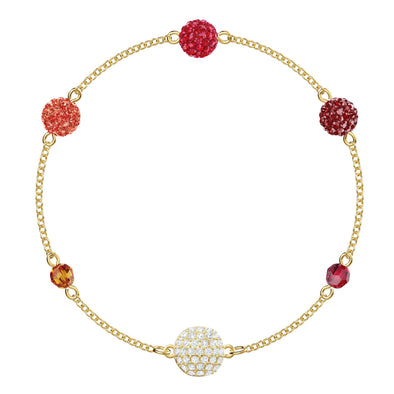 Swarovski Remix Collection Pop Strand, Multi-colored, Gold-tone plated