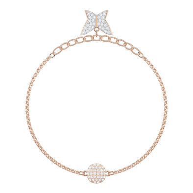 Swarovski Remix Collection Lilia Strand, White, Rose-gold tone plated