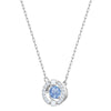Swarovski Sparkling Dance Round Set, Blue, Rhodium plated