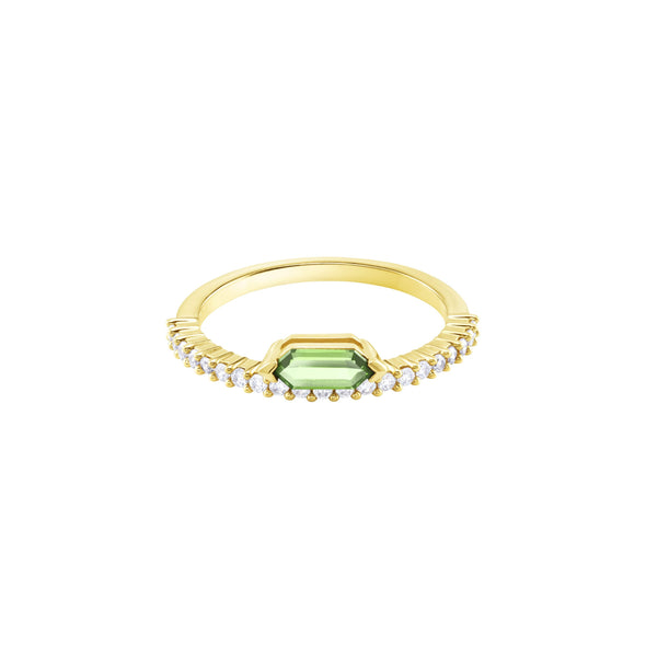 Oz Ring, White, Gold-tone plated