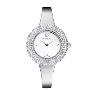 Crystal Rose Watch, Metal Bracelet, Silver, Stainless steel