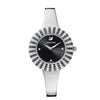 Crystal Rose Watch, Metal Bracelet, Black, Stainless Steel