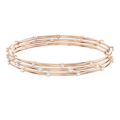 Penélope Cruz Moonsun Cluster Bangle, White, Rose-Gold Tone Plated
