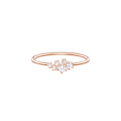 Penélope Cruz Moonsun Ring, White, Rose-Gold Tone Plated