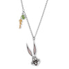 Looney Tunes Bugs Bunny Pendant, Multi-colored, Rhodium plated