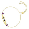 Tarot Magic Bracelet, Multi-colored, Gold-tone plated