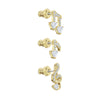 Pleasant Pierced Earrings set, White, Gold-tone plated
