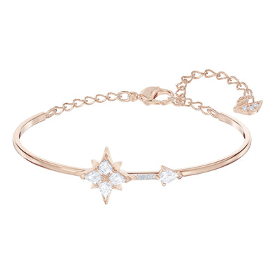 Swarovski Symbolic Bangle, White, Rose-gold tone plated