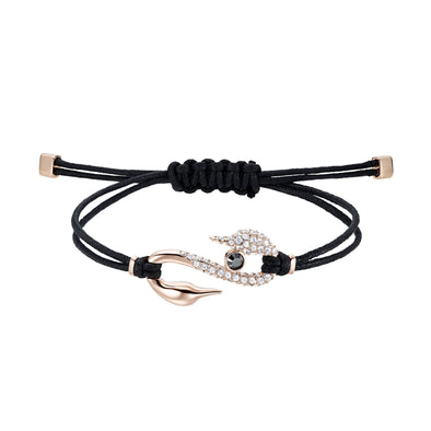 Swarovski Power Collection Hook Bracelet, Black, Rose-gold tone plated
