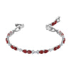 Louison Bracelet, Red, Rhodium plated