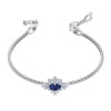 Palace Bracelet, Blue, Rhodium plated